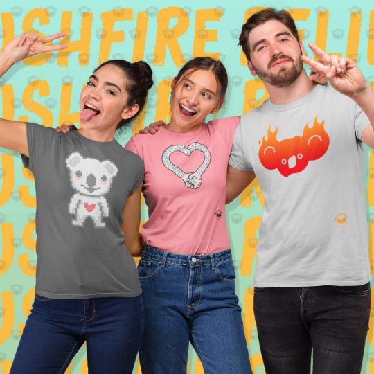3 Models Shirts Bearhugs For Australia